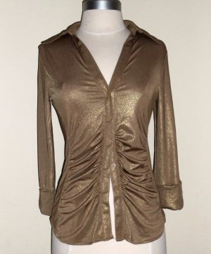 INC International Concepts Liquid Gold Shirt Size