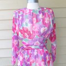 Vintage David Josef Floral Print Dress Size 8