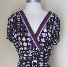 J Studio Multi-Colored Block Polka Dot Dress Size 14