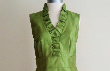 NWT Jessica H Missy Ruffled Neck Dress Size 10