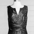 Adrianne Papell Black Sliver Metallic Sheath Dress – Size 12