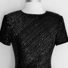 BIEFF BASIX Sparkling Beaded Silk Dress Size 8