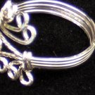 Sterling Silver wrap around twisted loop ring