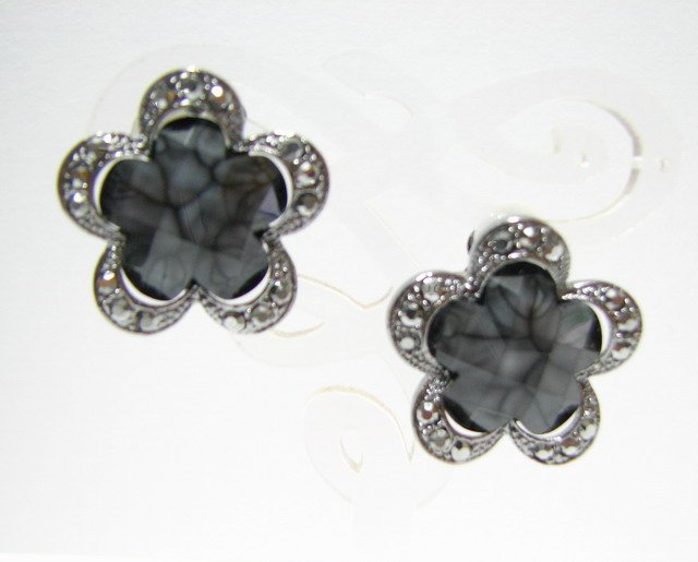 E816 GORGEOUS RHINESTONE CLIP ON EARRINGS 2.3cm