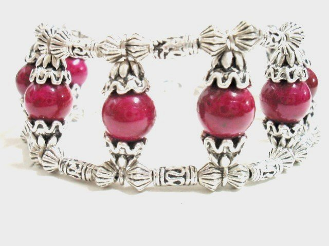 *FREE SHIPPING* BA218 ETHNIC TRIBAL JEWELRY 3 STRANDS PINK BRACELET