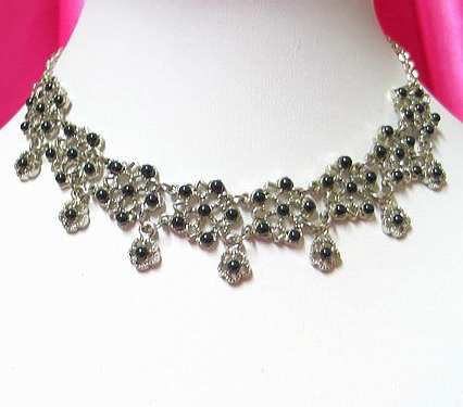 *FREE SHIPPING* NA943 ETHNIC TRIBAL FLORAL NECKLACE 37.5cm _cOOl!!_SPECIAL OFFER!!