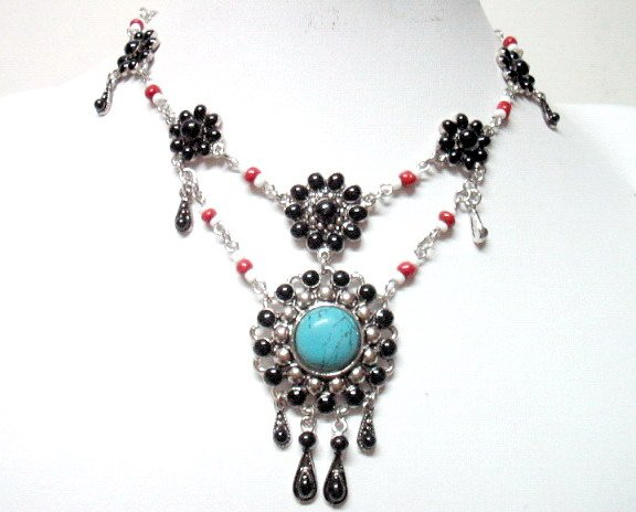 *FREE SHIPPING* NA07 ETHNIC TRIBAL DANGLE PENDANT NECKLACE 50cm _cOOl!!_SPECIAL OFFER!!