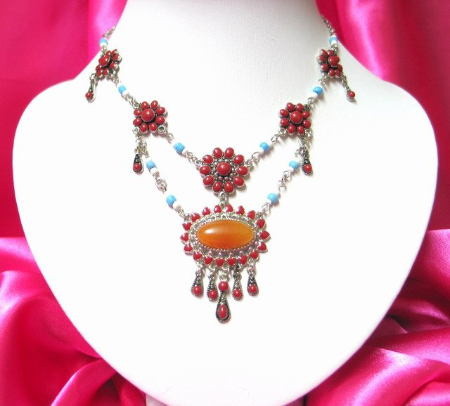 *FREE SHIPPING* NA926 ETHNIC TRIBAL DANGLE PENDANT NECKLACE 50cm _cOOl!!_SPECIAL OFFER!!