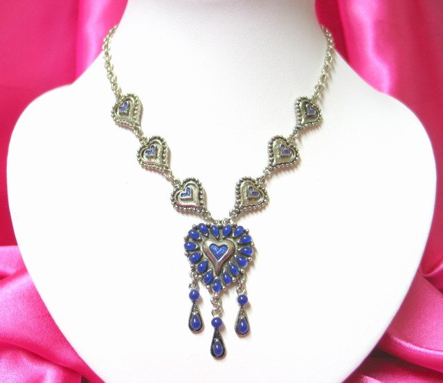 *FREE SHIPPING* NA933 ETHNIC TRIBAL HEART DANGLE NECKLACE 50CM  _cOOl!!_SPECIAL OFFER!!