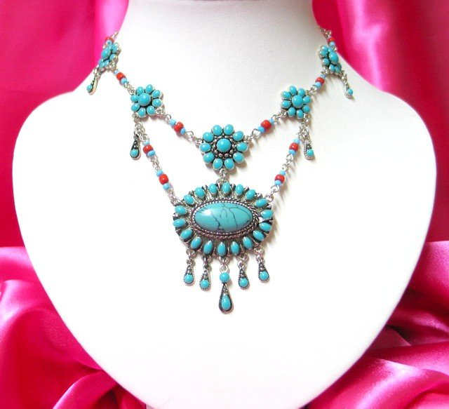 *FREE SHIPPING* NA924 ETHNIC TRIBAL DANGLE PENDANT NECKLACE 50cm   _cOOl!!_SPECIAL OFFER!!