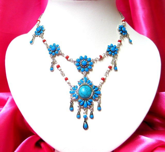 *FREE SHIPPING* NA931 ETHNIC TRIBAL DANGLE PENDANT NECKLACE 50cm   _cOOl!!_SPECIAL OFFER!!