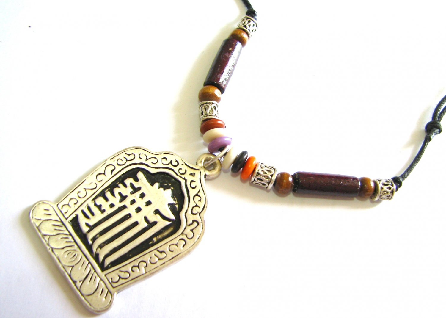*FREE SHIPPING*NA968 ETHNIC TRIBAL PENDANT STRING NECKLACE 45-78cm