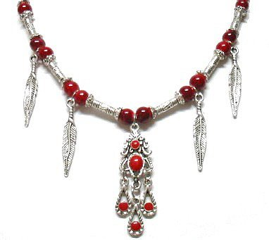 *FREE SHIPPING*NA683 ETHNIC TRIBAL JEWELRY DANGLE NECKLACE 50CM