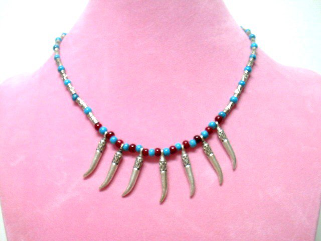 *FREE SHIPPING*NA666 ETHNIC TRIBAL JEWELRY DANGLE NECKLACE 45cm