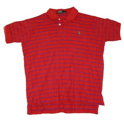 Red and Blue Pique Polo