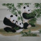 Finished Handmade Cross Stitch of Panda