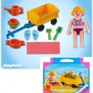 P-C PLAYMOBIL 4755 BATHING SUIT GIRL&BEACH HAND CART/WAGON NEW&SEALED BOX SPECIAL !!