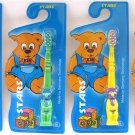 p-c NEW TOOTHBRUSH FOR KIDS CHILDREN 4 PIECES MIXED COLORS FREE U.S. POST