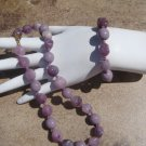 Vintage Miriam Haskell Purple glass Neckace and Bracelet Demi