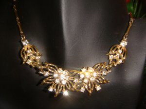 MINT  VINTAGE  RHINESTONE CHOKER IN THE STYLE OF CORO ~ NAPIER