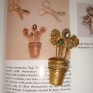 VINTAGE ~ COLLECTORS BOOK PIECE THIMBLE BROOCH ~ BEE, PANSY, CAMEO, ROSE AND SNAKE