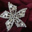 Vintage Estate Unsigned Rhinestone Star Burst Brooch Pin