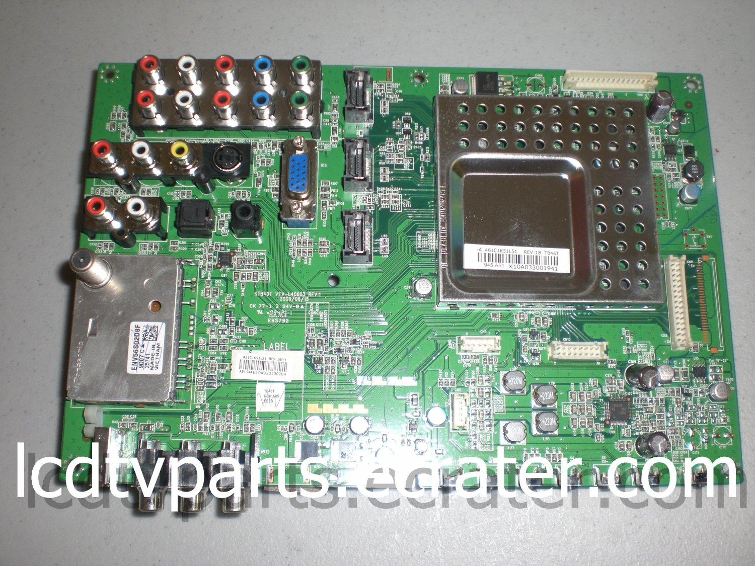 75016468, VTV-L40603, 431C1K51L51 REV:1B(-), K10A833001941, Main Board for TOSHIBA 46RV525RZ