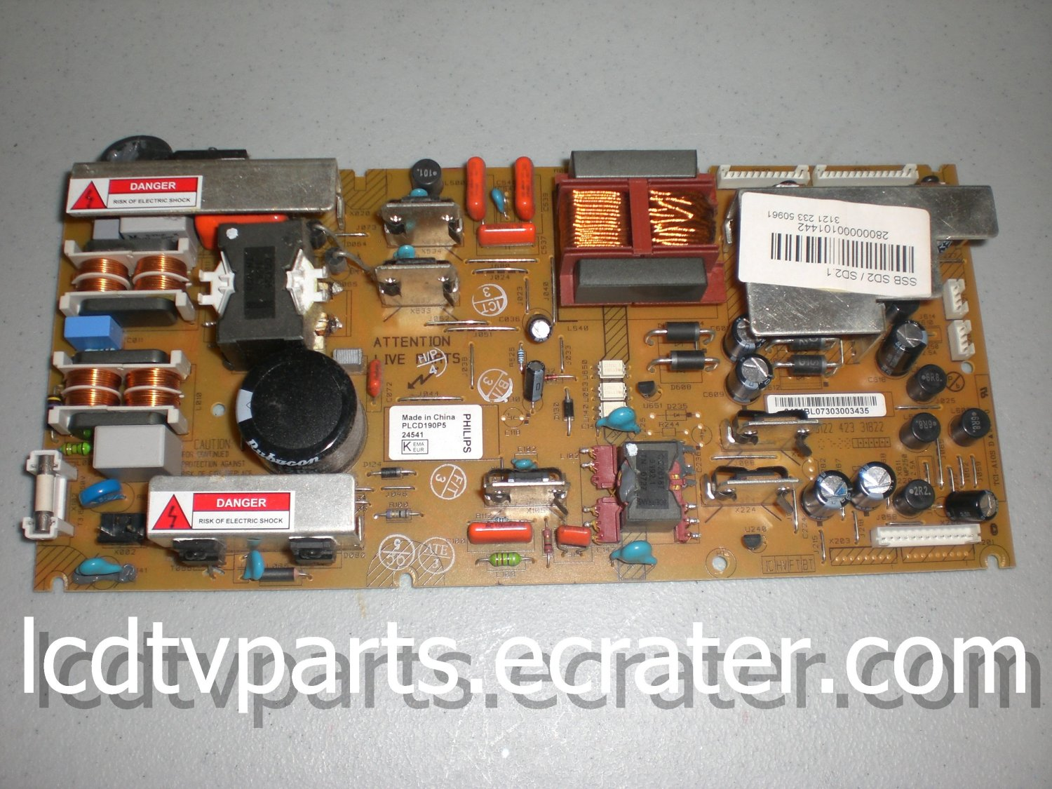 312242724781, 312242724541, TCI-A10S D,PLCD190P5, Power Supply for PHILLIPS 32PFL5332D/37