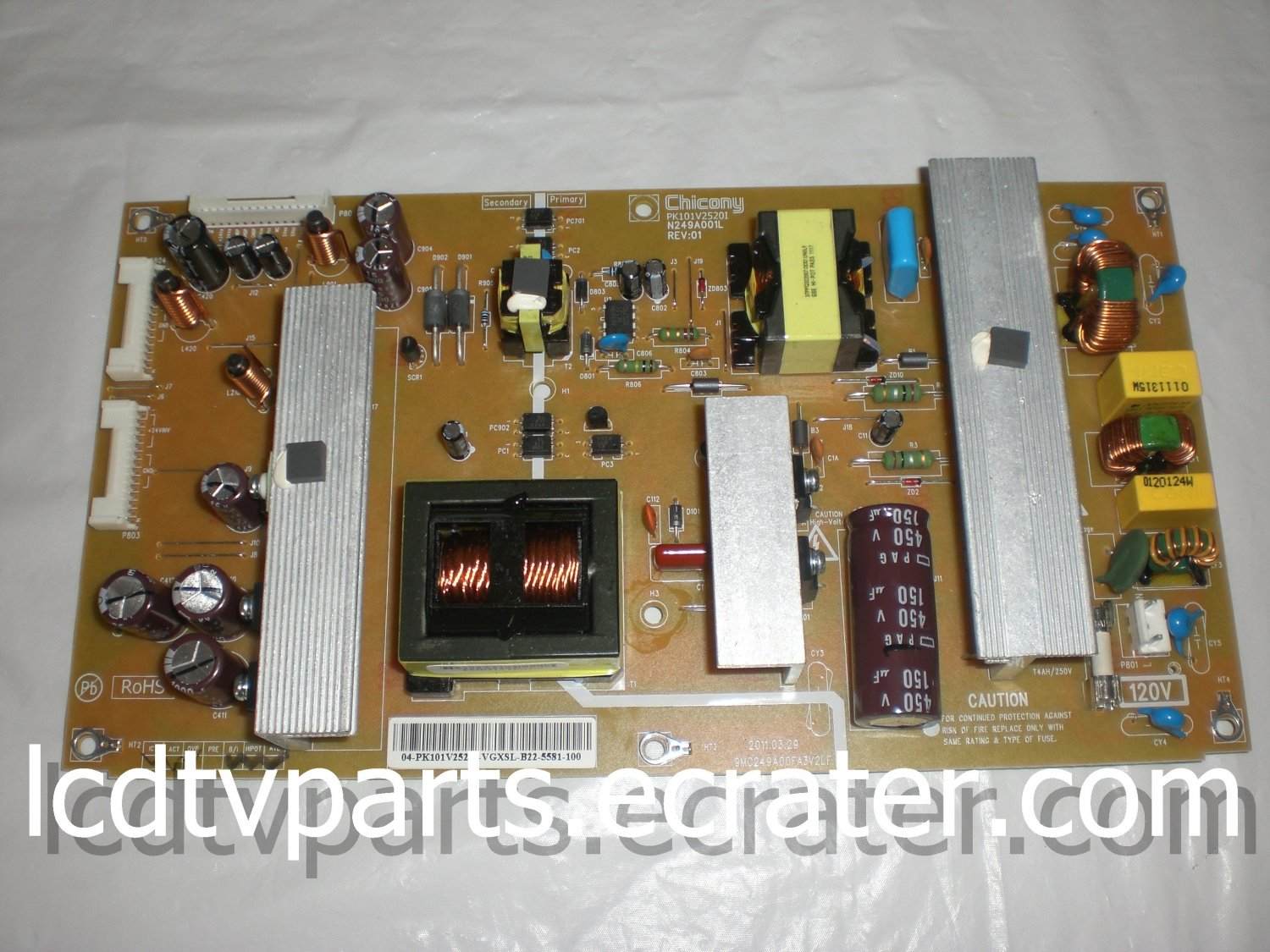 75024143, PK101V2520I, N249A001L REV:01, 9MC249A00FA3V2LF, Power Supply for TOSHIBA 46G310U