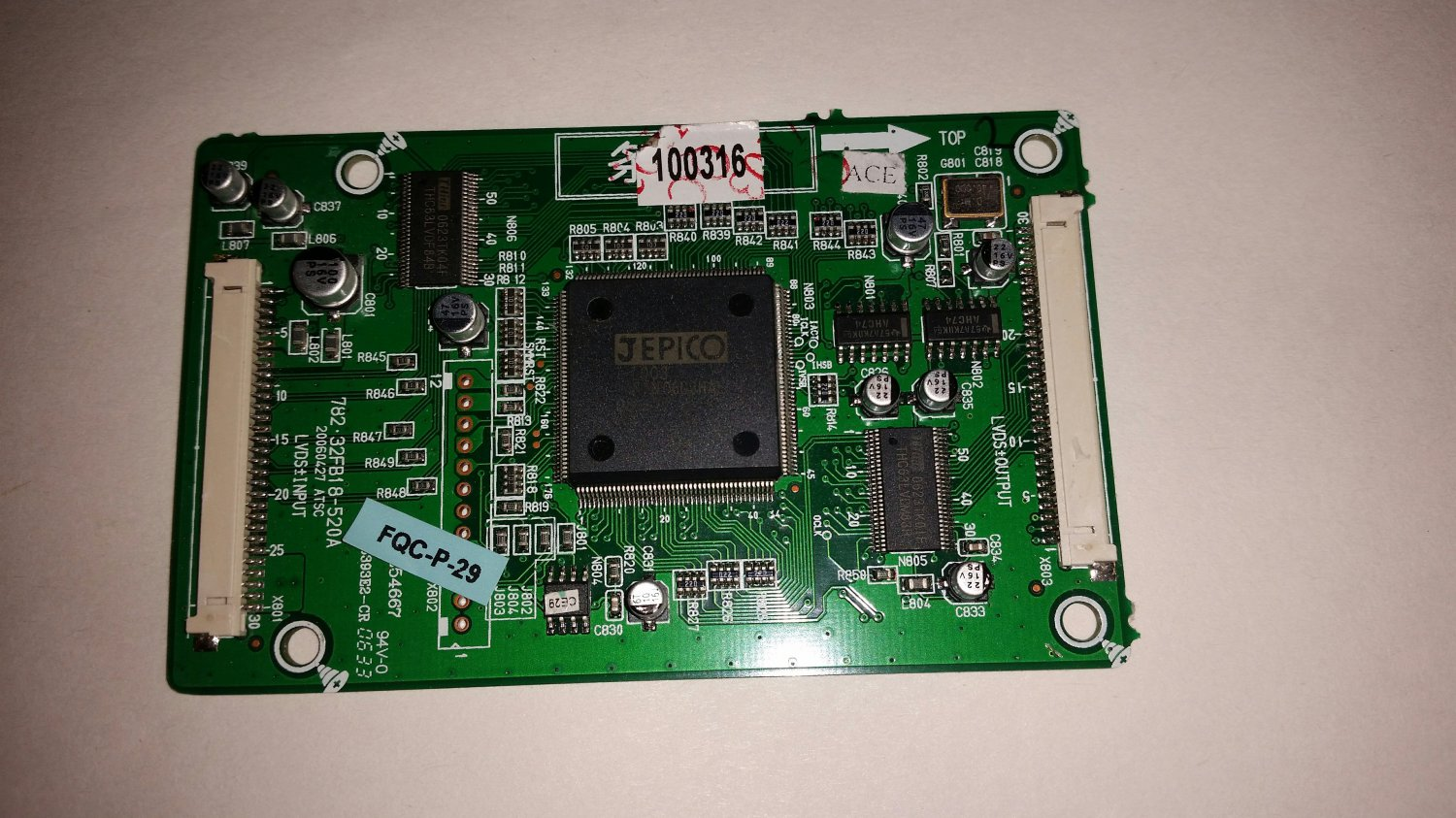 782.32FB18-520A, 20060427 ATSC, 667-32FB18-52, T-Con Board For Insignia