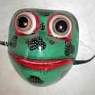 "Bali Frog Mask Great for your Wall or your Face about 8"" Handmade wood carving"