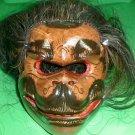 Bali Monkey Mask Hindu Celeluk Hanaman with hair Gargoyle Hand carve d 8x7 inch