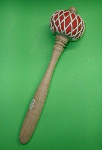 "Gong  LARGE Teak Wood Striker Mallet Music Percussion 14"" Long top quality"