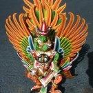 "Vishnu riding on Garuda handmade wood carving from Bali Indonesia 18"" size"