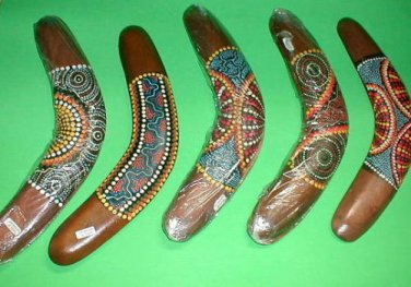 "Boomerang Aboriginal Made in Bali 16"" Long  Handmade Large"