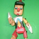"Pinnochio Marionette Puppet  Hand Carved Wood Large size 16"" Disney"