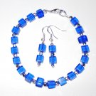 Cobalt Blue Bracelet And Earrings