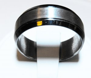Black Stainless Steel Ring (sz.10)