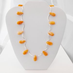 Jade Teardrop Necklace (tangerine)