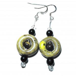 Ceramic Cat's Eye Earrings