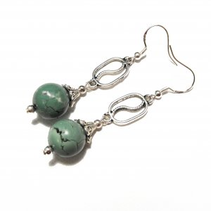 Turquoise Ball Earrings (L1)