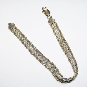 Sterling Silver Braided Design Bracelet