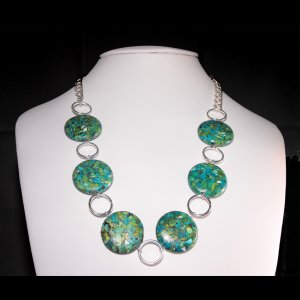 Large Coin Turquoise Necklace