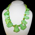 Green Turquoise Slab Necklace