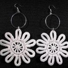 Crochet Cotton Yarn Daisy Earrings