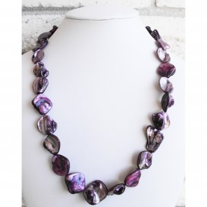 Pearl Shell Purple Necklace