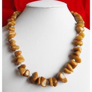 Caramel Jade Nugget Necklace