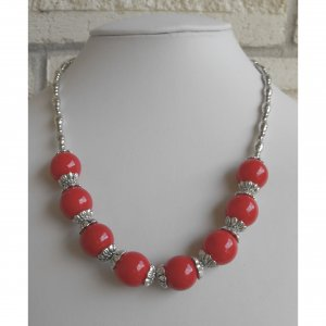 Sale! Coral Beaded Necklace