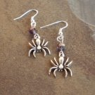 Sale! Spider With Swarovski Crystal Earrings