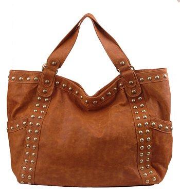 Alexandra Jordan Brown Leather Handbag